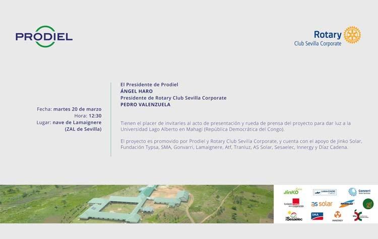 Prodiel presenta su proyecto para la Universidad Lago Alberto